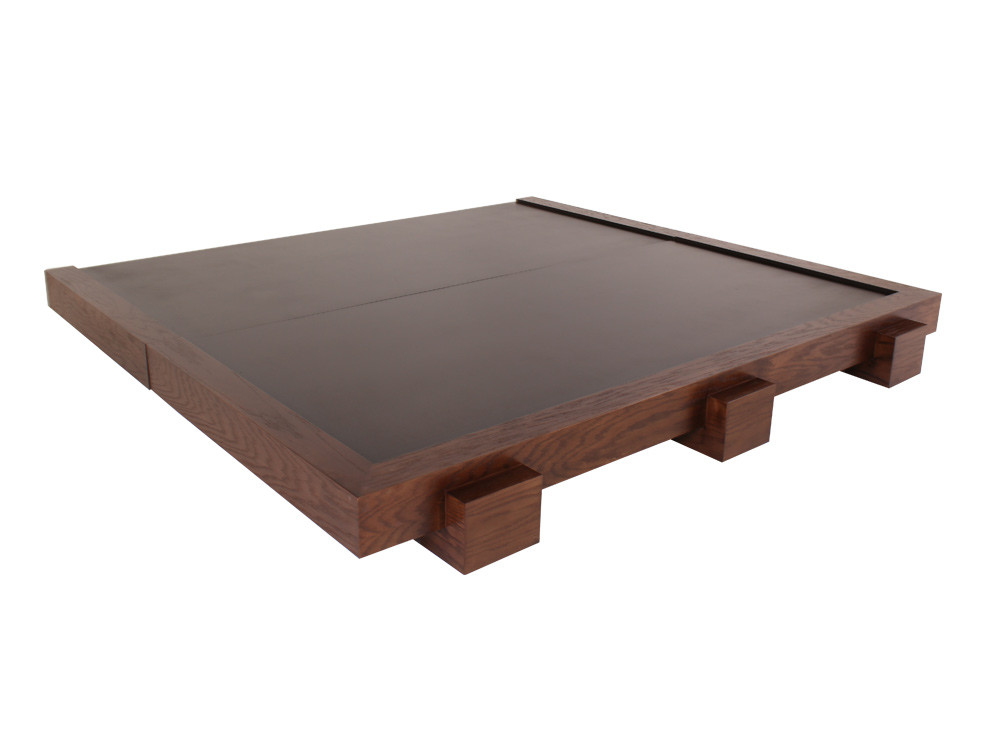Base de madera queen size mayoreo muebles muebler a en for Base de cama queen size con cajones